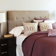 Humble and Haute Humble + Haute Stratton Textured Beige Upholstered Headboard