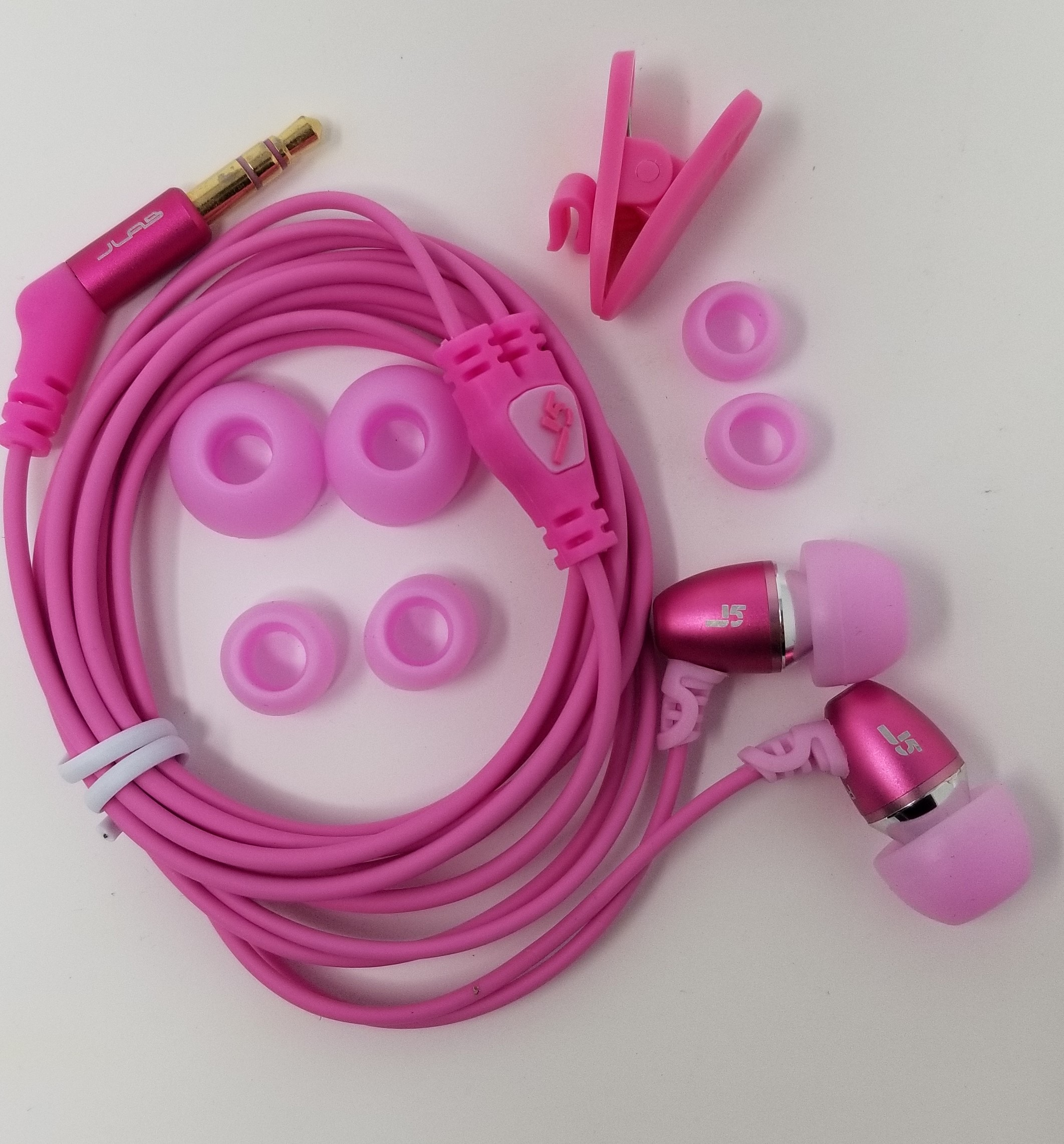 Jlab J5 Hi-Fi Noise Reducing Earbuds Pink