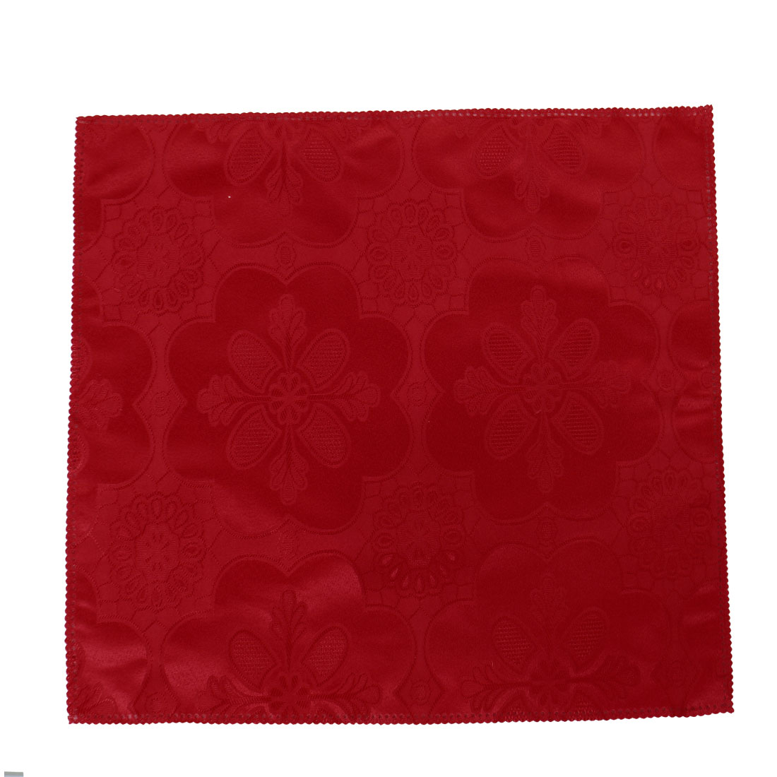 Hotel Fabric Square Table Glass Decor Cleaning Dinner Cloth Napkin Red 50 x  50cm