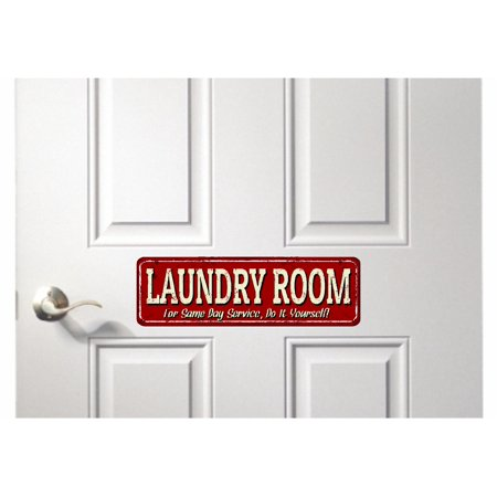 Epic Designs Laundry Room for same day service do it yourself Door sticker sign wall décor](Do It Yourself Halloween Door Decorations)