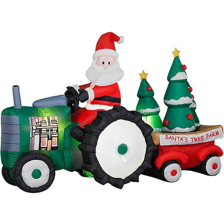 AB Inflatable -Santa's Christmas Tractor