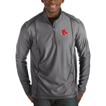 Boston Red Sox Antigua Tempo Half-Zip Pullover Jacket - Heathered Charcoal