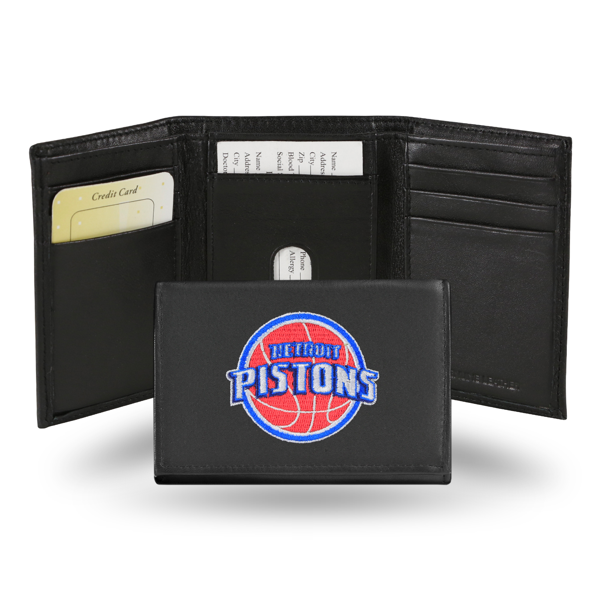 NBA - Men's Detroit Pistons Embroidered Trifold Wallet