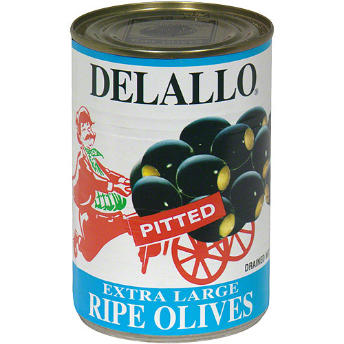 Delallo Extra Large Ripe Olives, 6 oz (Pack of 24)