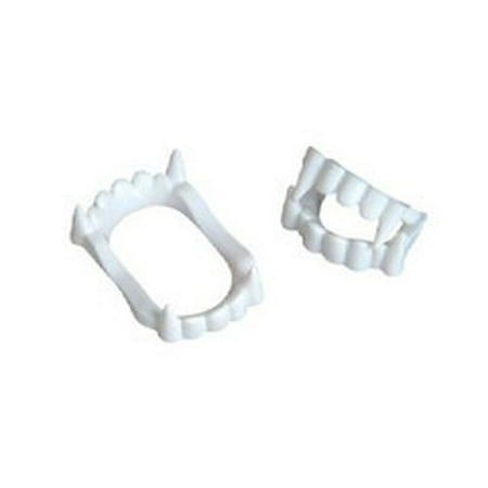 White Vampire Fangs Plastic Werewolf Teeth Halloween Costume Accessory (3) Great for both kids and adults - Halloween Costume Teeth