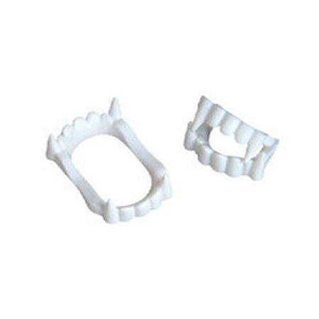 White Vampire Fangs Plastic Werewolf Teeth Halloween Costume Accessory (3) Great for both kids and adults