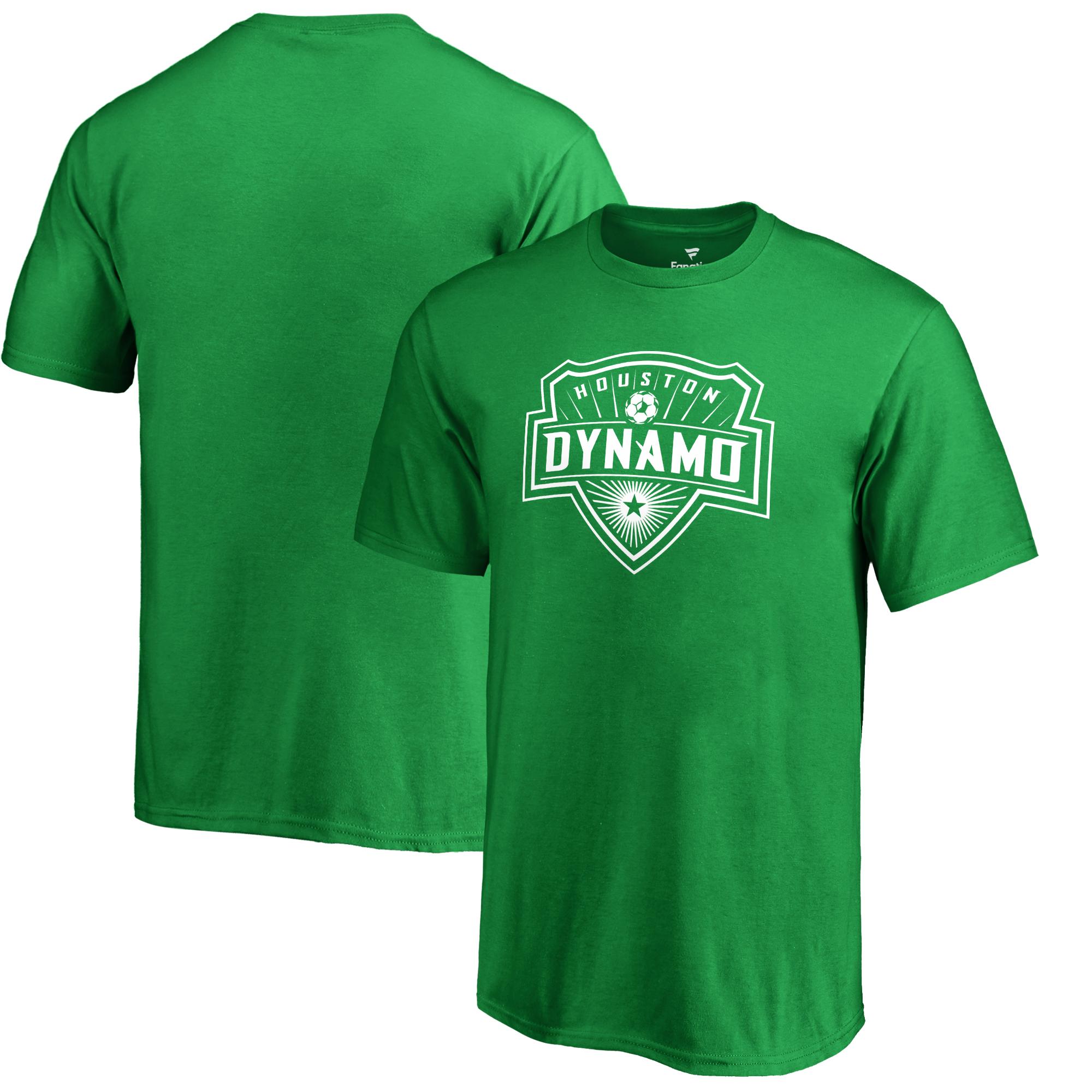 Houston Dynamo Fanatics Branded Youth St. Patrick's Day White Logo T-Shirt - Kelly Green