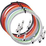Lava Piston Solder-Free Mini Ultramafic Right Angle Cable Kit 10 ft. with 10 plugs Purple