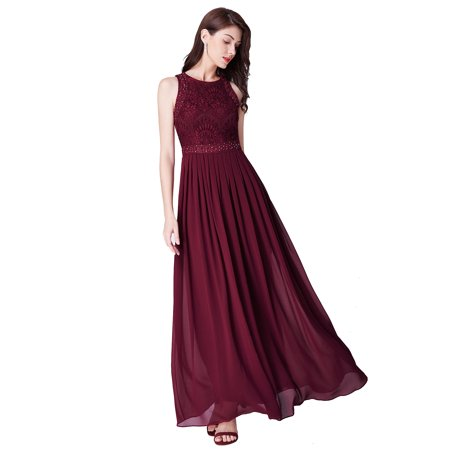 Ever-Pretty Womens Elegant Formal Evening Prom Gowns for Women 07391 Burgundy US4