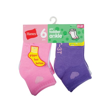 Hanes Girls' Toddler 6-Pack Ankle Socks - Naked Girls In Long Socks