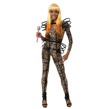Nicki Mimaj Leopard Catsuit Costume by Rubies 887124 - Nicki Minaj Costume Halloween