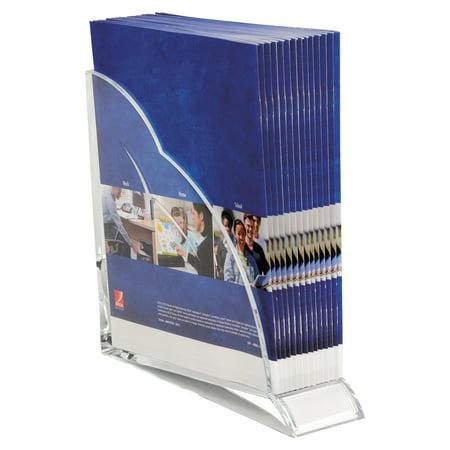 Swingline Stratus Acrylic Magazine Rack, 3 1/2 x 10 1/4 x 10 1/2, Clear -SWI10133 Clear Acrylic Magazine Holder