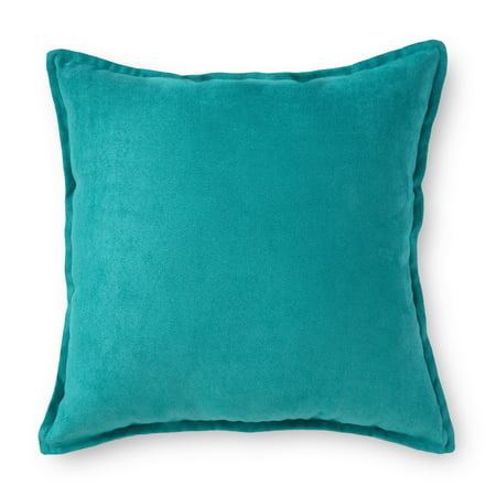 Mainstays Faux Suede Decorative Throw Pillow with Flange, 18