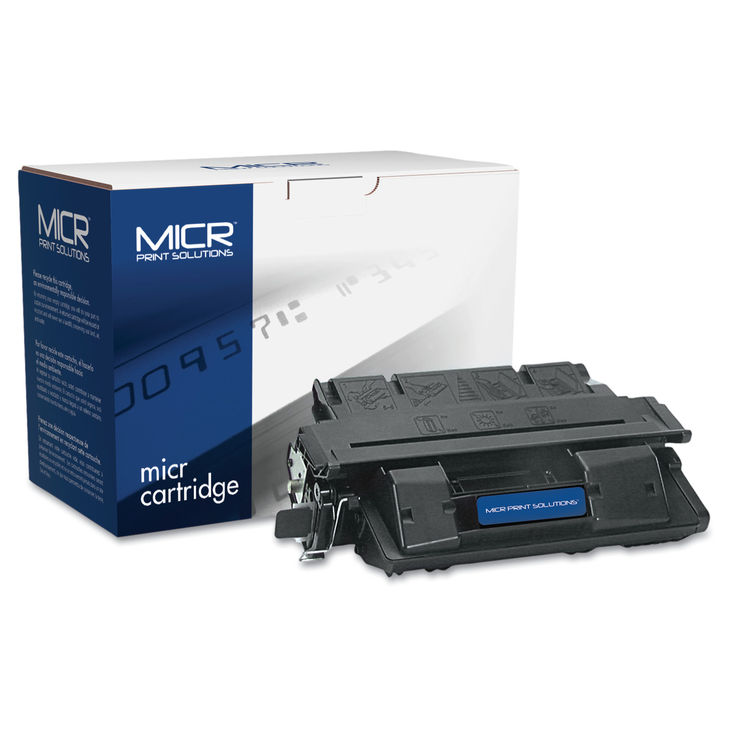MICR Print Solutions Compatible with C4127XM High-Yield MICR Toner, 10,000 Page-Yield, Black