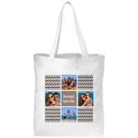 Personalized Chevron Photo Message Tote, Available in Multiple Colors