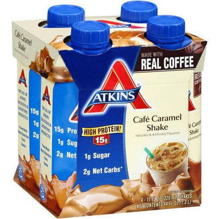 Atkins Cafe Caramel Latte Shake  11Fl Oz   4 Pack  Ready To Drink