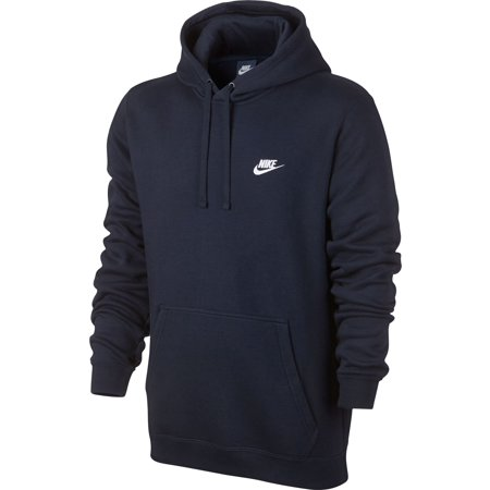 (Nike Club Fleece Pullover Longsleeve Men's Hoodie Blue/White 804346-451)