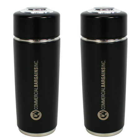 2 Pack Black Alkaline Energy Flask Ionizer Water Bottle with -