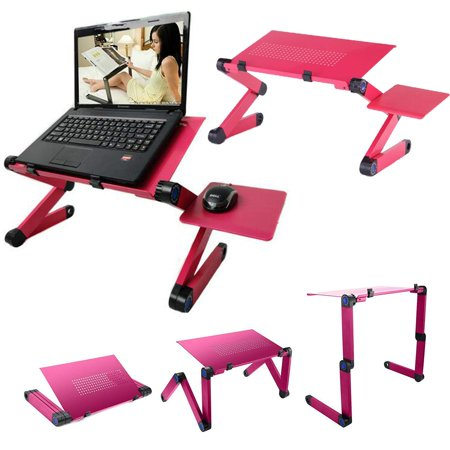 Upgraded Foldable Laptop Desk, Portable Folding PC Desk Sofa Laptop Stand, Adjustable Computer Table with Mouse Board & Non-Slip Baffles, Breakfast Bed Tray Book - Pc Board Etching
