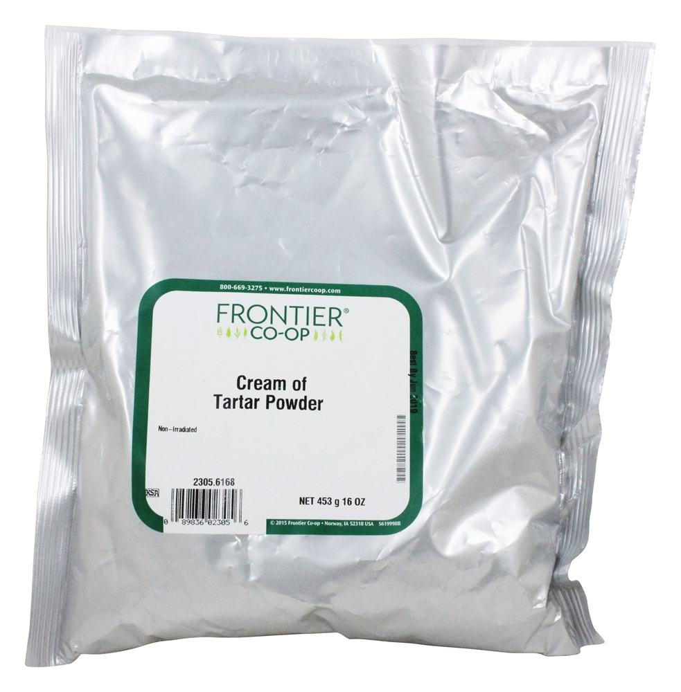 Frontier Natural Products - Cream of Tartar Powder - 1 lb...