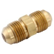 Anderson Metals Corporation 1/2 in. Flare x 3/8 in. Dia. Flare Brass Reducing Union - Case Of: 1