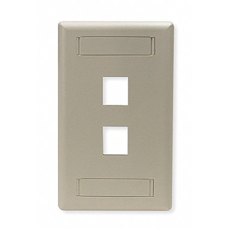 Hubbell IFP12EI 1 Gang 2 Port Electric Ivory Faceplate