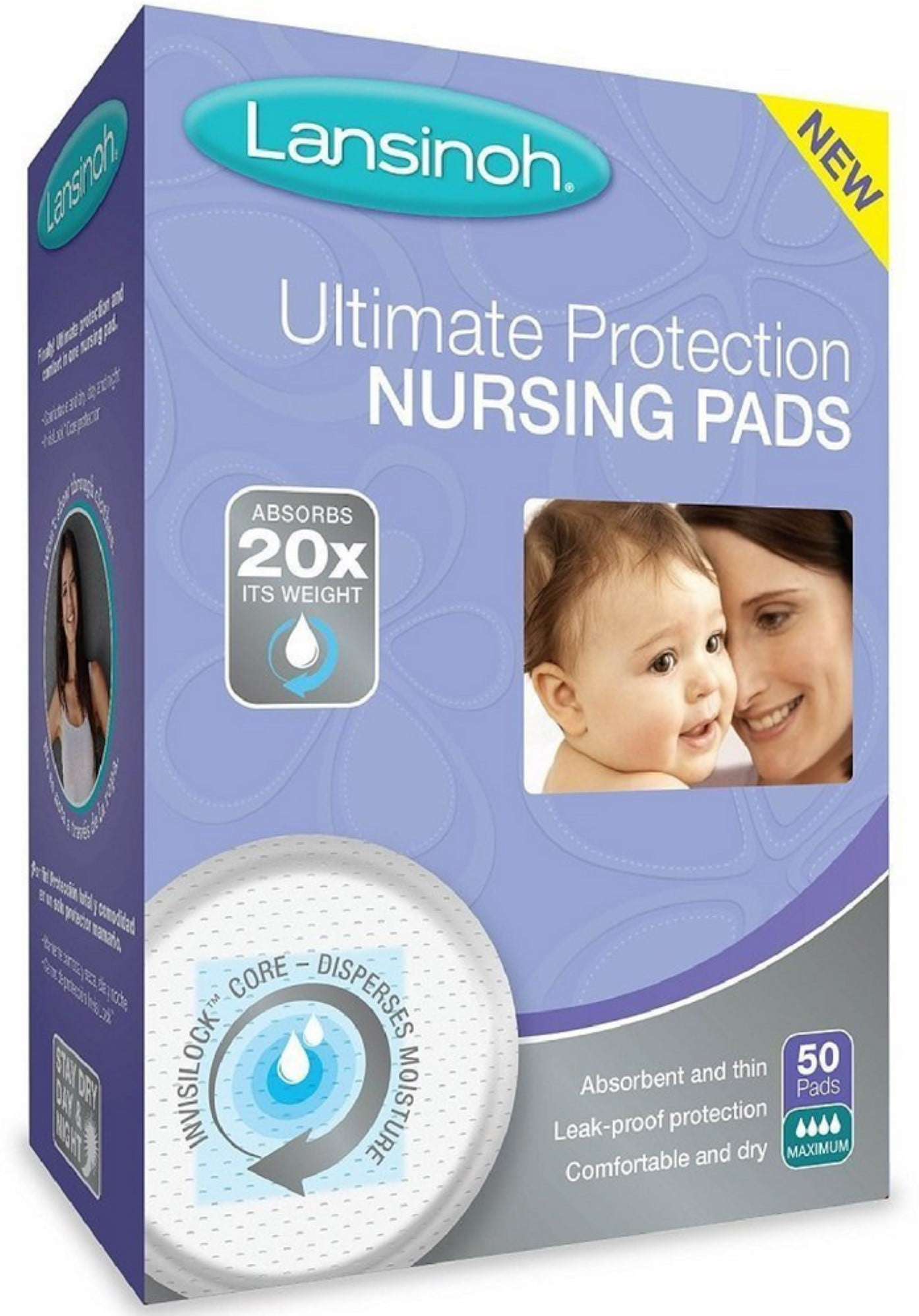 Lansinoh Ultimate Protection Nursing Pads 50 ea (Pack of 4) by Lansinoh