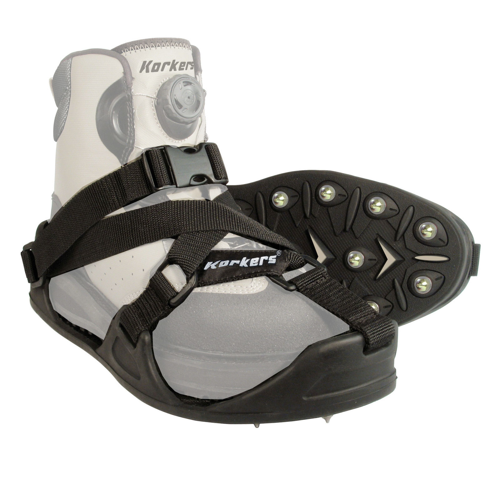 Korkers CastTrax Fly Fishing Cleated Overshoe with 36 Car...