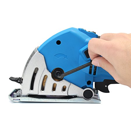 "500W Electric Circular Saw with 6 Blades(0.6""-3.4""), Laser Guide, 0-1.06"" Cutting capacity , Ideal for Glass Wood, Soft Metal, Tile and Plastic Cuts  - image 13 de 15"