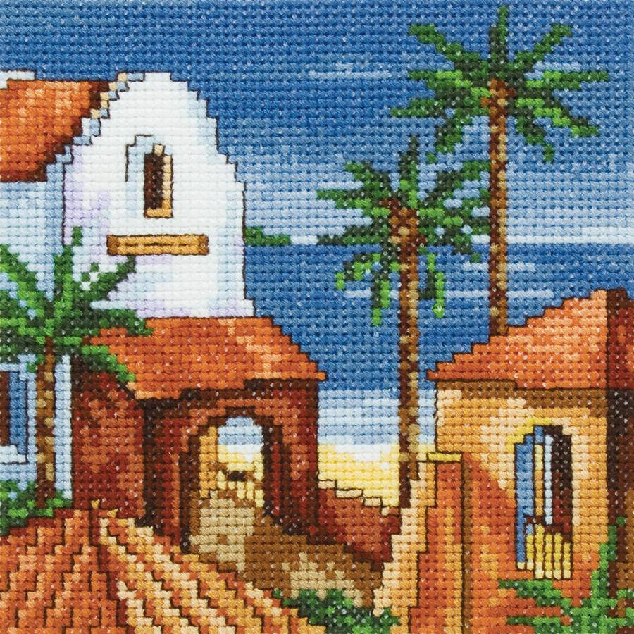 "Siesta I Counted Cross Stitch Kit, 5"" x 5"", 14-Count"
