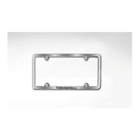 Genuine OE Audi Slimline Tdi License Plate Frame - Brushed