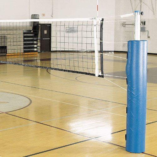 Alumagoal Pro-Power Steel Volleyball Set with Pole Pads