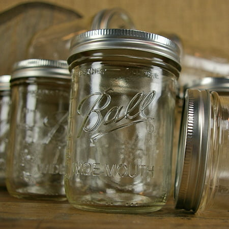 table decor mason jar with lid wide mouth pint 16 oz 12 pack. Black Bedroom Furniture Sets. Home Design Ideas