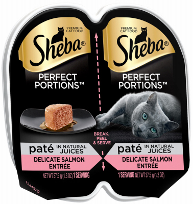 Mars Petcare Us 216069 2.6 oz Sheba Perfect Portions Salmon Wet Cat Food