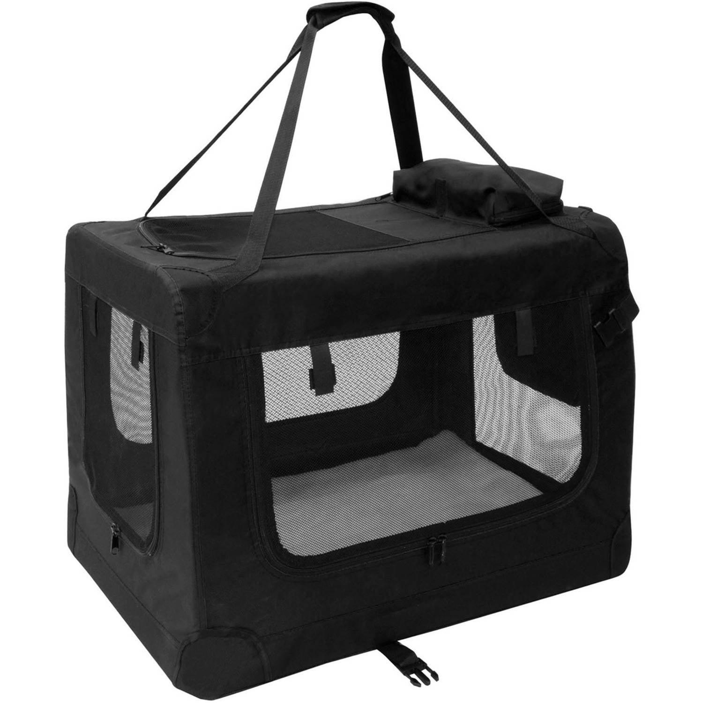 ALEKO PBCBKS 19X14X12 Inch Heavy Duty Collapsible Pet Carrier Portable Pet Home Spacious Traveler Pet Bag,... by ALEKO