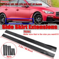 """86.6"""" Universal Lower Side Skirts Extensions Kit For BMW Mercedes Benz Toyota Honda Camry L LE XLE SE XSE Corolla"""