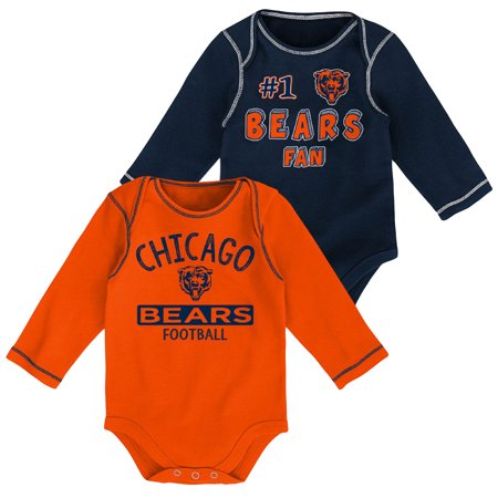 Newborn & Infant Navy/Orange Chicago Bears 2-Pack Long Sleeve -
