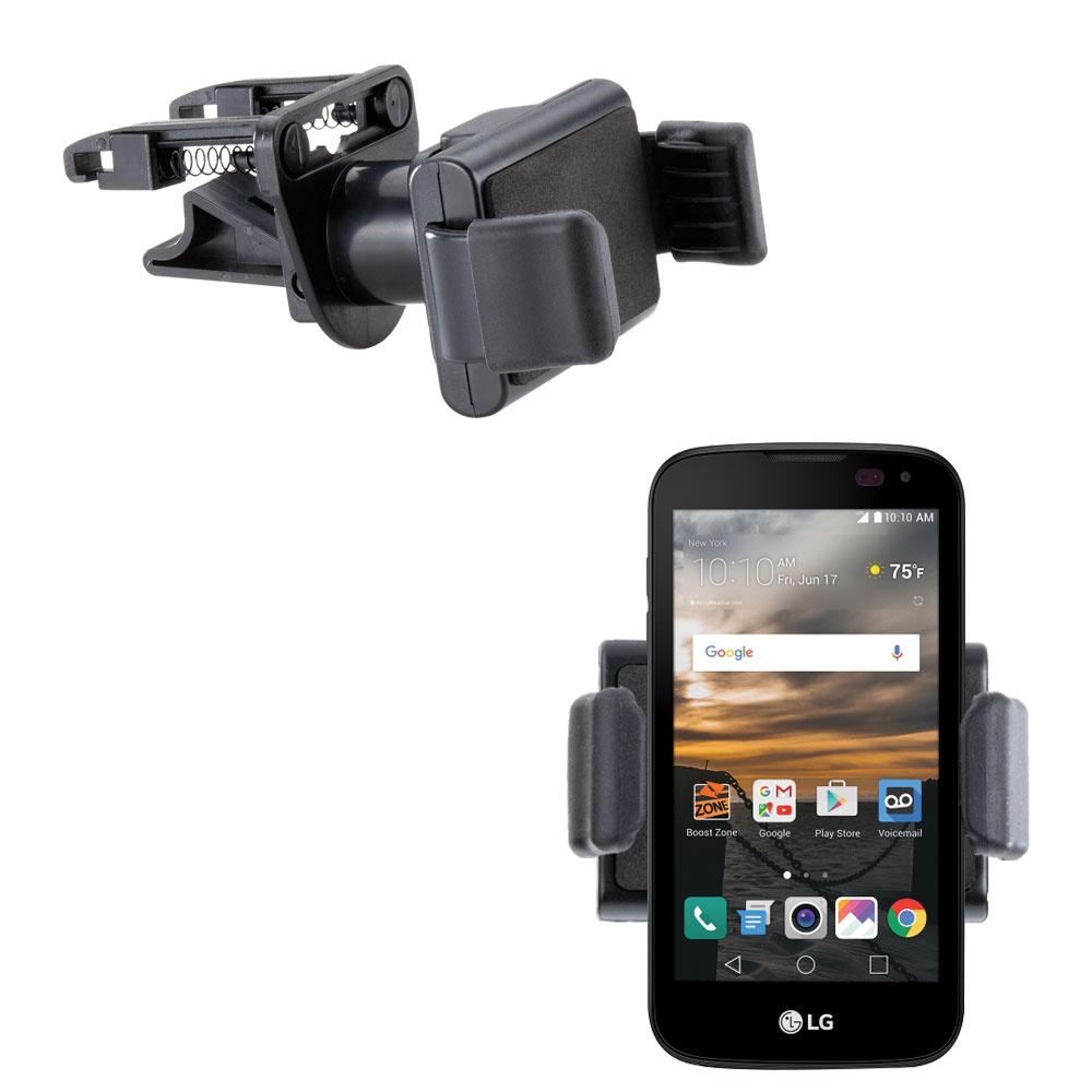 Gomadic Ultra Compact Air Vent Clip Based Cradle Holder Car / Auto Mount suitable for the LG K3