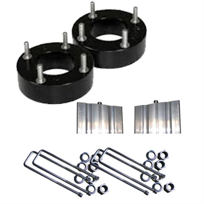Airbagit LEVEL-TOY-TUN-02e Lift Toyota Tundra - 2 in. 2007 - 2015 Front Leveling Kit Steel Spacers Block - B