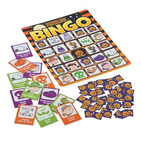 Fun Express - Halloween Peanuts Bingo for Halloween - Toys - Games - Carnival & Bingo - Halloween - 41 Pieces