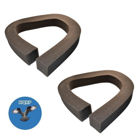 HQRP 2-pack Foam Window Air Conditioner Weatherstrip / Insulating Strip Seal, 2 1/8-Inch x 2 1/8-Inch x 43-Inch + HQRP Coaster