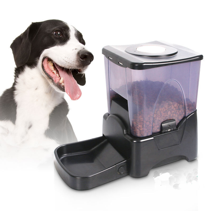 Ktaxon 10.65L Portion Control Automatic Pet Feeder Food Dispenser Black