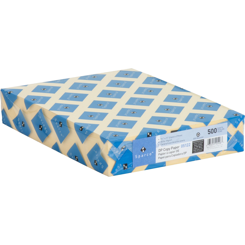 Sparco, SPR05122, Premium Grade Pastel Color Copy Paper, 500 / Ream, Canary