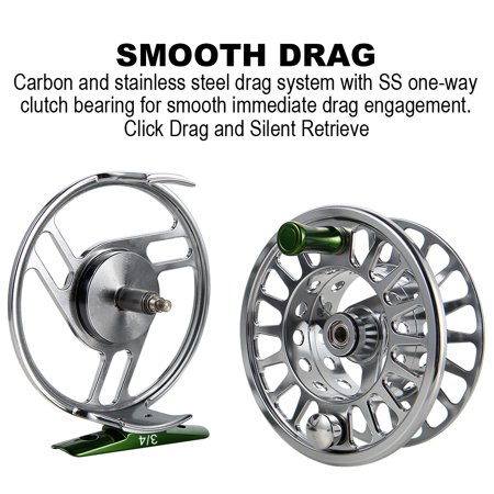 Fly Reel Fishing Reel with Stainless Steel Ball Bearings Aluminum Alloy CNC Machined Body 3/4, 5/6, 7/8 for Saltwater Freshwater - image 2 de 8