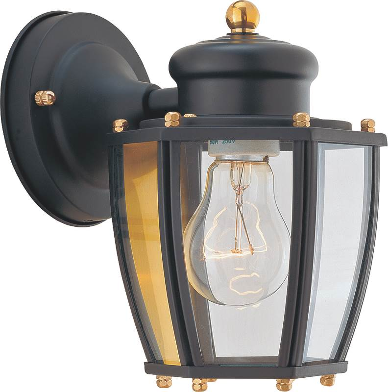 Boston Harbor HV-66961-BK Lantern Porch Light Fixture, Medium, 60 W, 1 Lamp by Boston Harbor