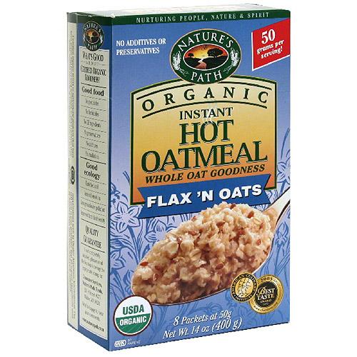 Nature's Path Organic Flax 'n Oats Instant Hot Oatmeal, 14 oz (Pack of 6)