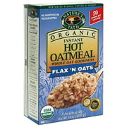 Nature's Path Organic Flax 'n Oats Instant Hot Oatmeal, 14 oz (Pack of 6)