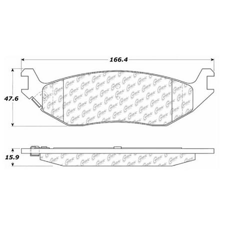 Go-Parts » 2007-2009 Chrysler Aspen Rear Disc Brake Pad Set for Chrysler Aspen (ST)