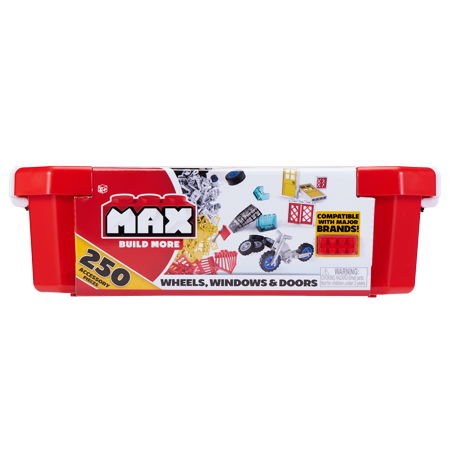 - Max build more building bricks accessories and wheels value set (250 pieces) - major brick brands compatible