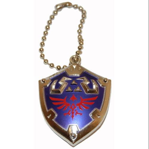 Legend of Zelda Skyward Sword Metal Hyrule Shield Keychain/Clip On